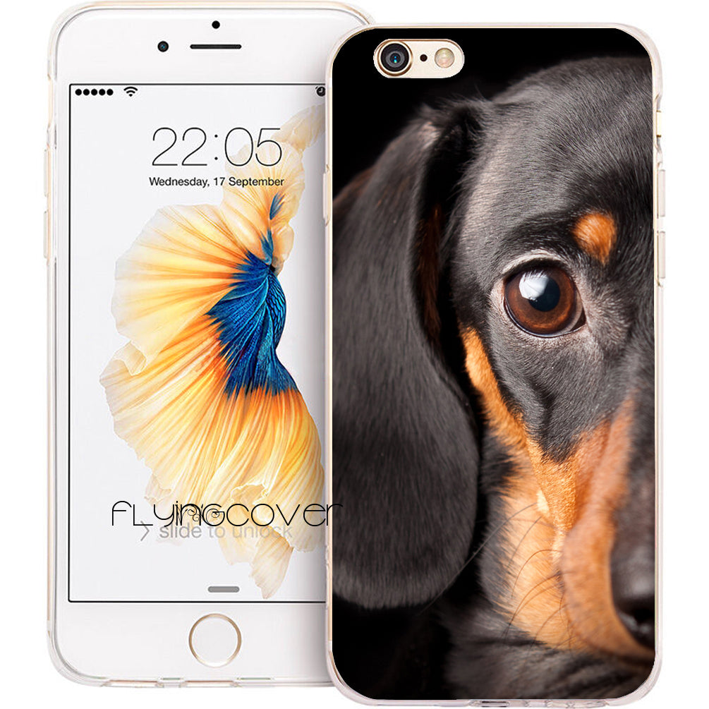 Cute Dachshund Silicone Case for iPhone 🐾
