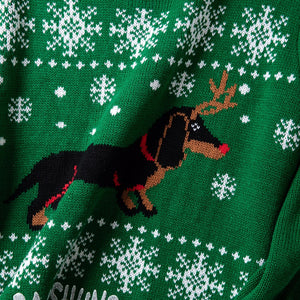 Winter Dachshund Long Sleeve Sweater 🐾