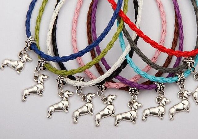 Antique Silver Dachshund Bracelets and Charms 🐾