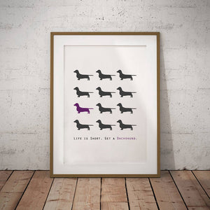Canvas Dachshund Print and Poster 🐾