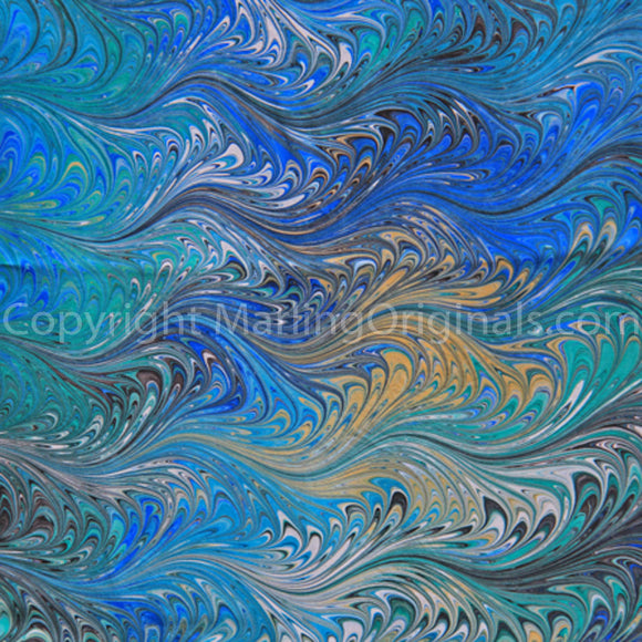 Marbled Pattern Summer Turquoise