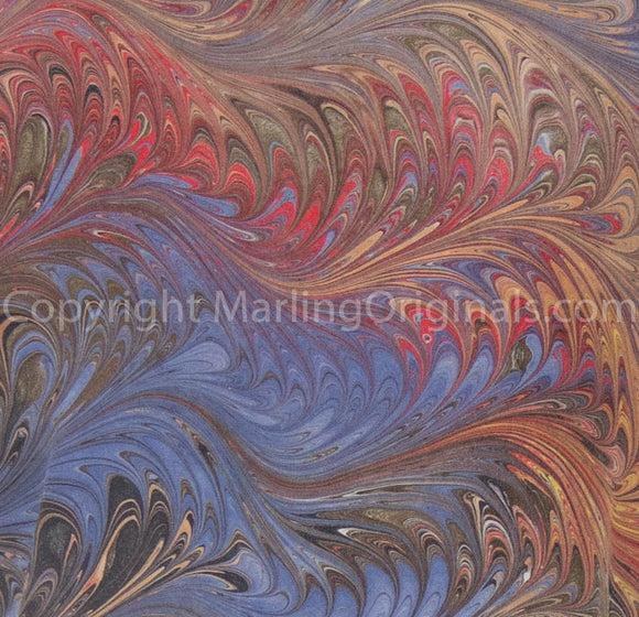Marbled pattern of sienna