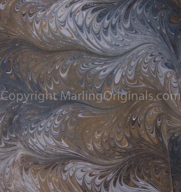 Marbled pattern Smoky Charcoal