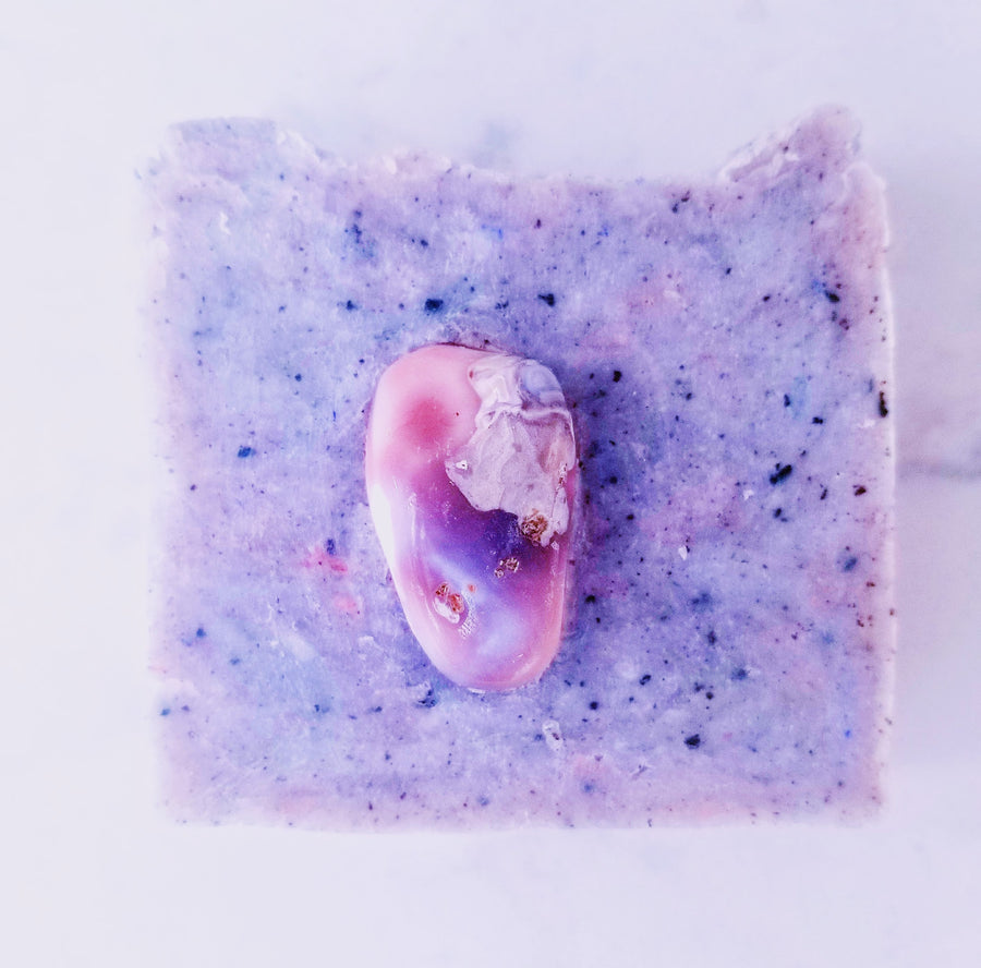 Friendship: Artisan Organic Acai, Juniper Berry and Pink Botswana Agate Soap Bar