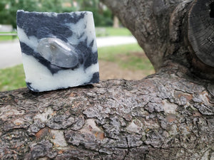 Rebirth: Coconut Charcoal, Eucalyptus and Clear Quartz Soap Bar