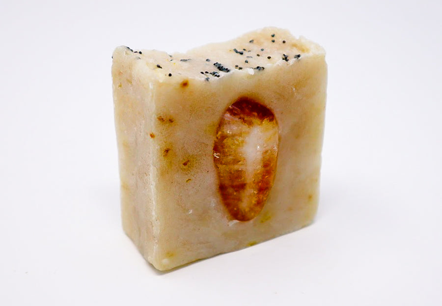 Bright Future: Organic Orange Peel Powder and Camu Camu, Grapefruit Essential Oil and Citrine Soap Bar
