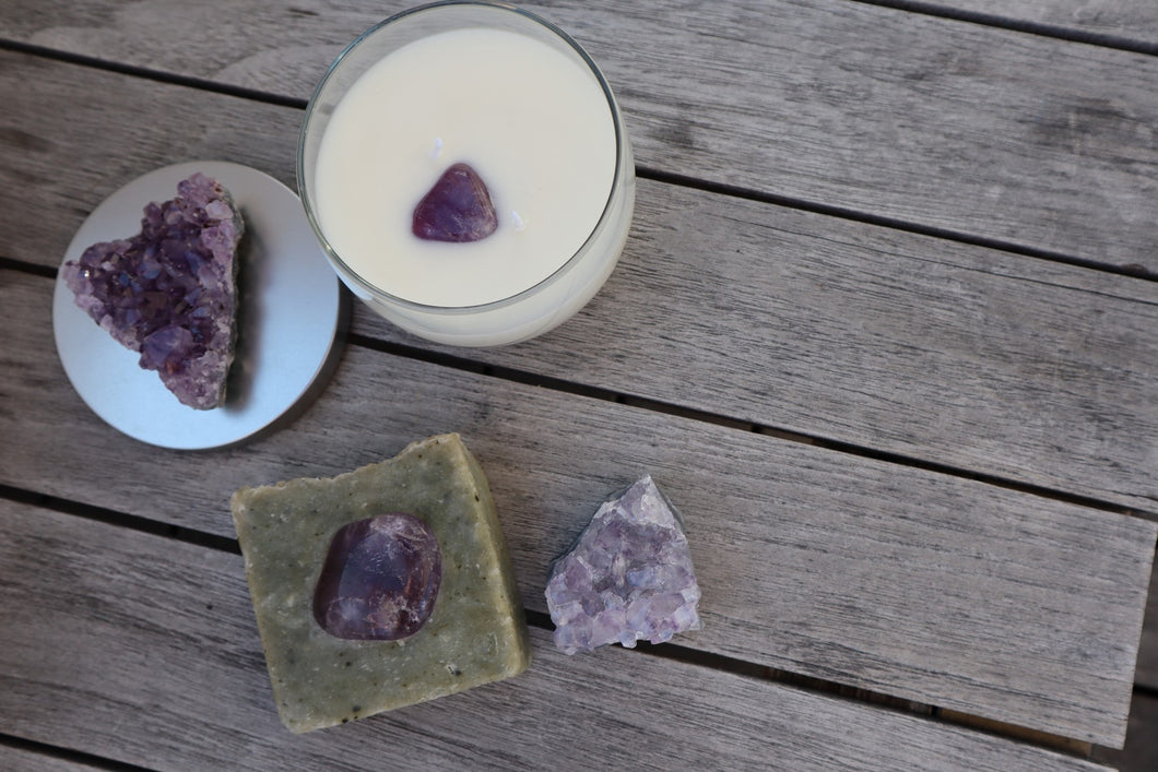 Balance: Amethyst Soap and Candle Set