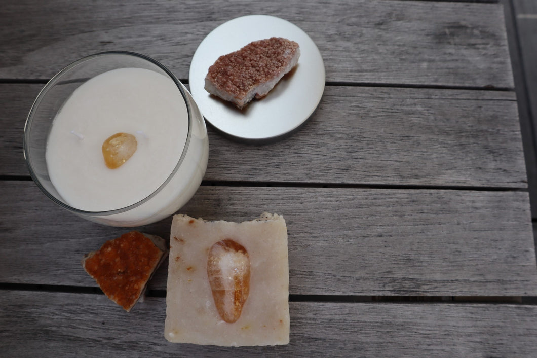 Abundance: Citrine Soap and Candle Set
