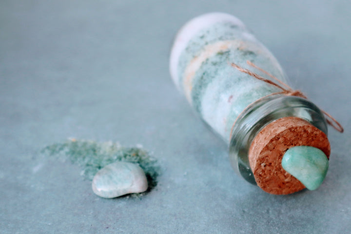 GEM GAIA- CLARY SAGE AND GREEN AGATE BATH SALT