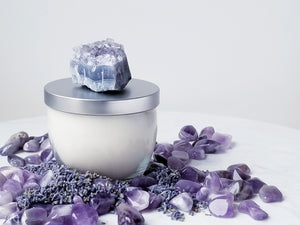Inner Wisdom: Lavender and Amethyst Soy Candle