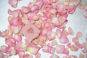 Enchanted Rose: French Pink Clay, Rose Geranium Essential Oil, Rose Quartz Soap Bar