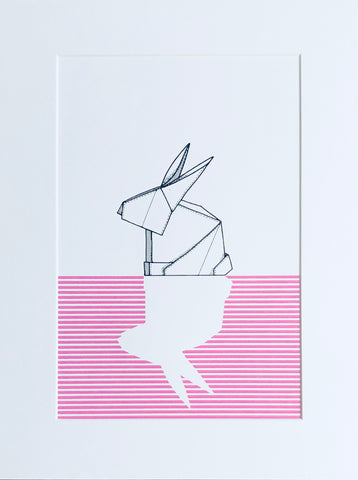Origami Bunny 2 Candy Pink