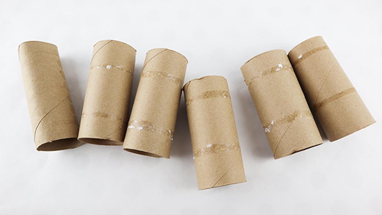 Toilet paper rolls for organising jewelry