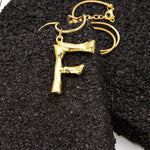 """F"" Letter Chain Necklace"