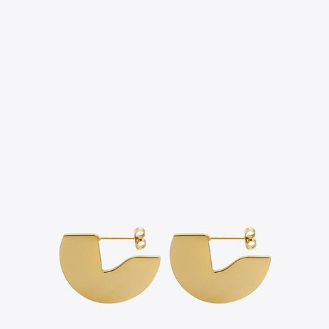 Geometic Semi Circle Stud Earrings
