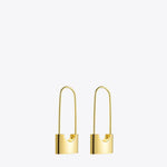 Lock Drop Earrings