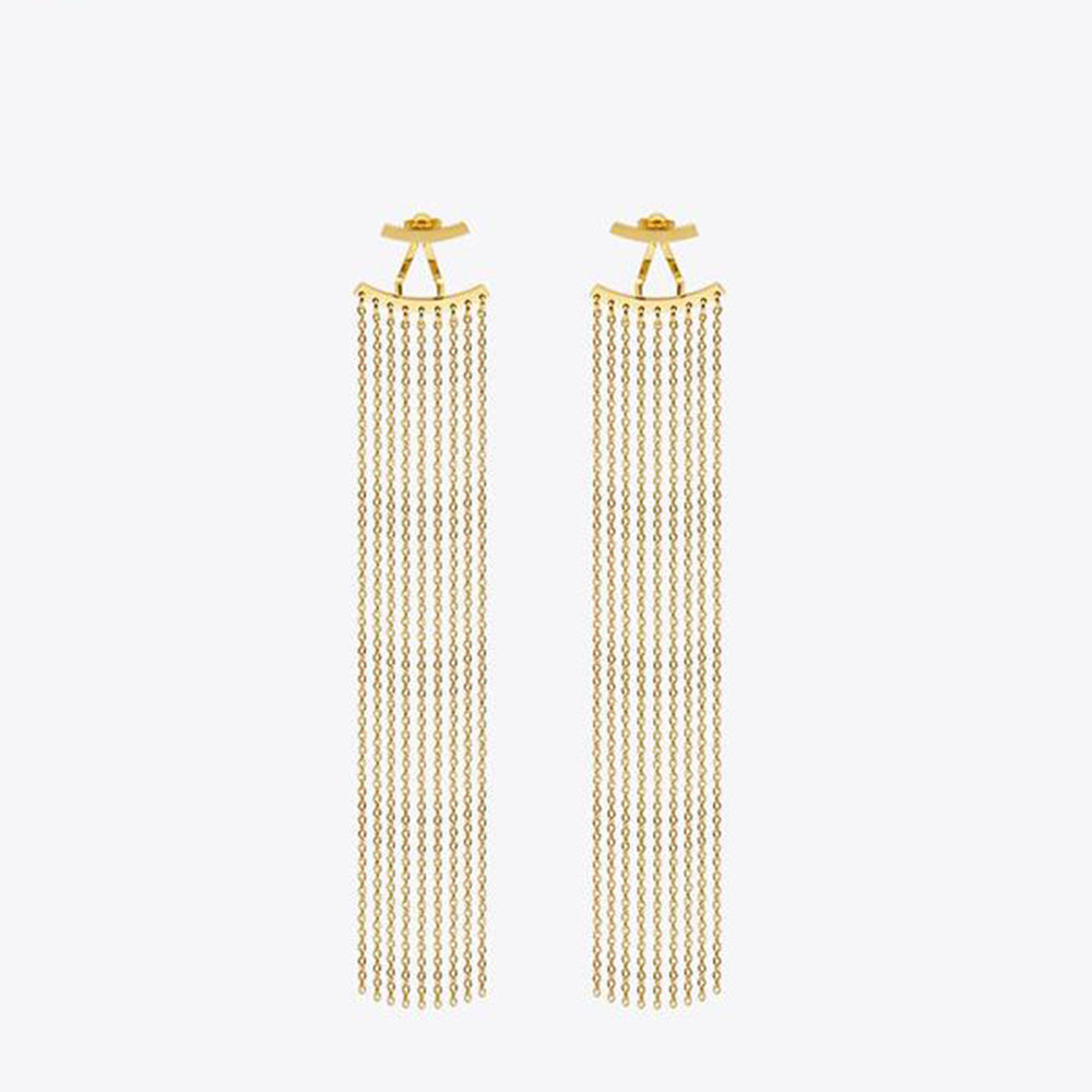 Long Tassels Dangle Earrings