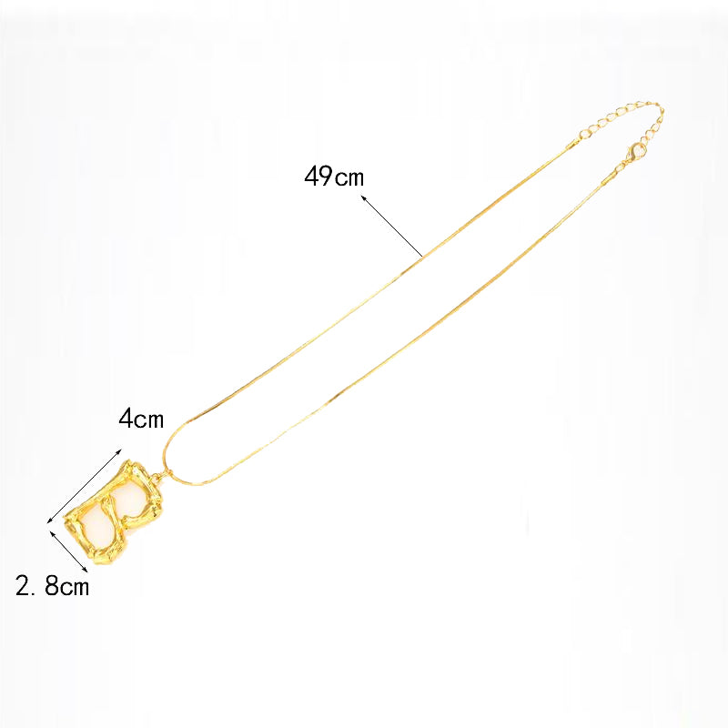 """P"" Letter Chain Necklace"
