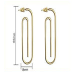 Paperclip Minimalist Earrings