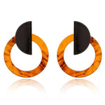 Statement Circle Acetate Earrings