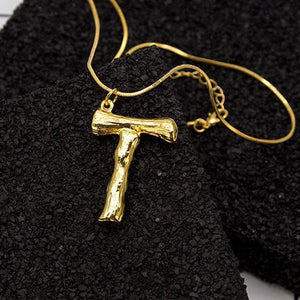 """T"" Letter Chain Necklace"