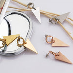 Unique Triangle Jacket Earrings