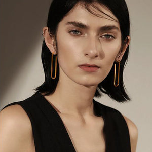Long Clip Earrings