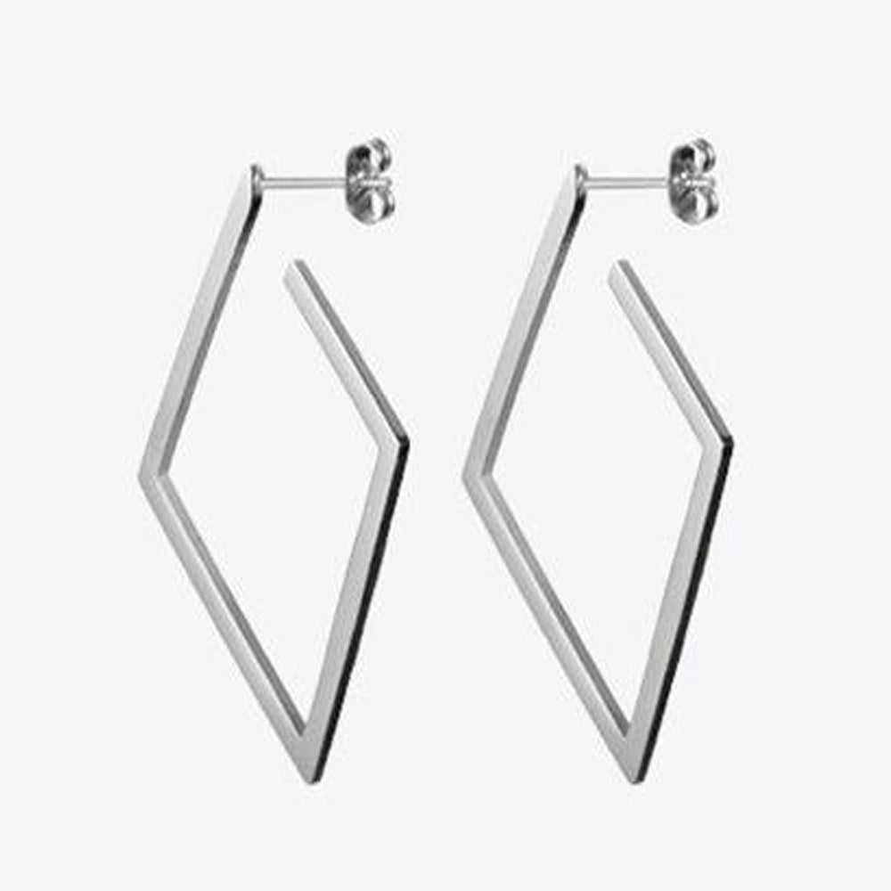 Geometric Rhombus Earrings