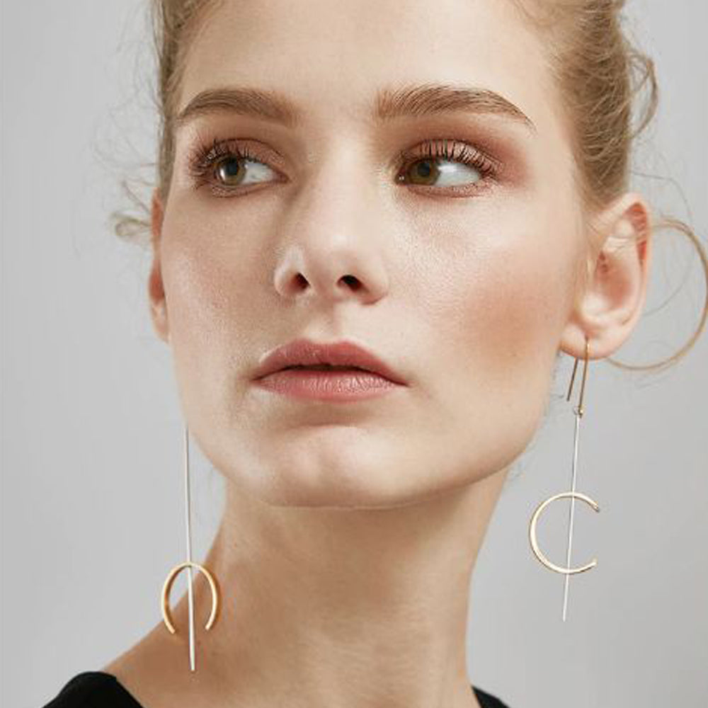 Double C Dangle Earrings