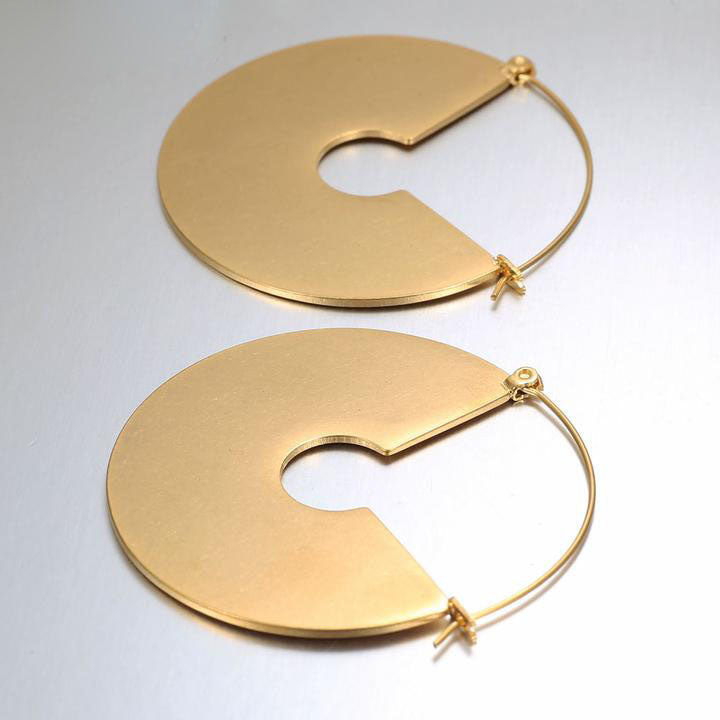 Matte Gold Vintage Earrings