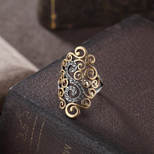 Rhinestone Gothic Retro Cocktail Party Ring