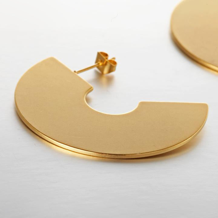 Matte Gold Geometric Earrings