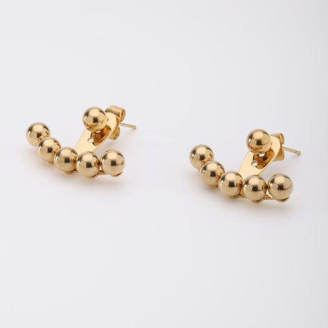 Semi-Circle Stud Earrings