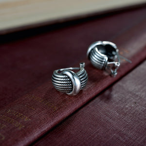 Vintage Silver Stud Party Earrings