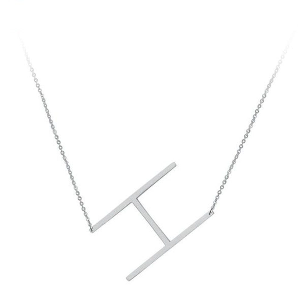 Letter Necklaces Silver