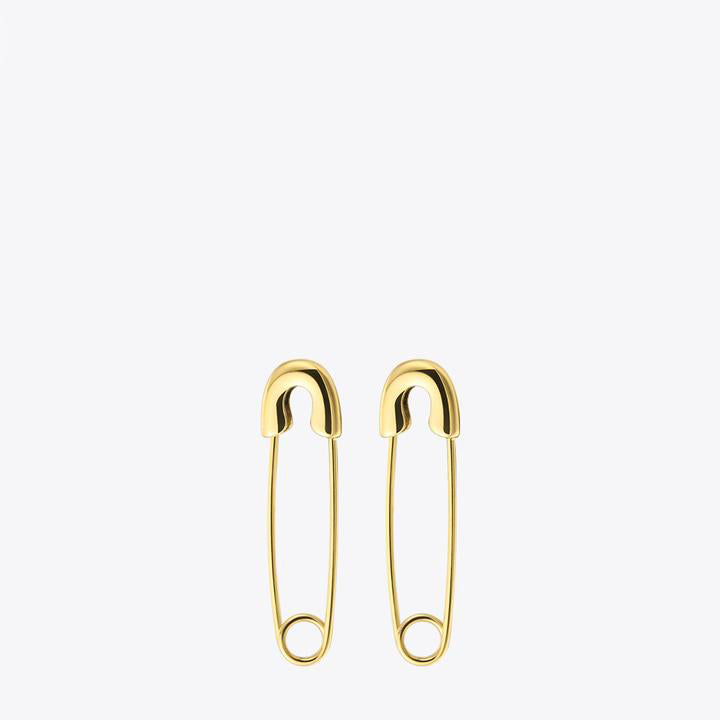 Safety Pin Long Earrings