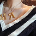 """V"" Letter Chain Necklace"