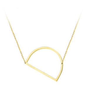 Letter Necklaces Gold