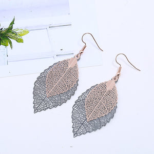 Set of 4 leaf Drop Earrings