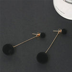 Set of 3 Velvet Drop Earrings