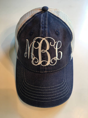 5f07b122a Monogrammed Comfort Color Trucker Hat – Melodic Stitches