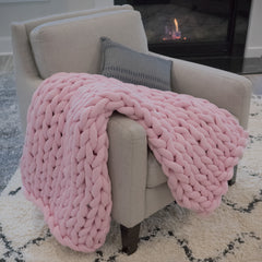 Jersey Chunk Knit Throw - Large