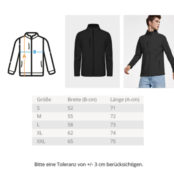 Wilder Wäller - Unisex Softshell Jacket mit Stick
