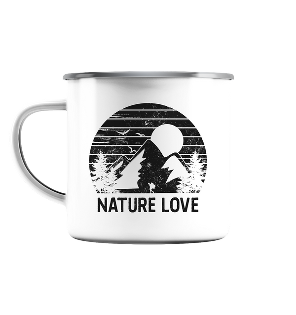 Nature Love - Emaille Tasse