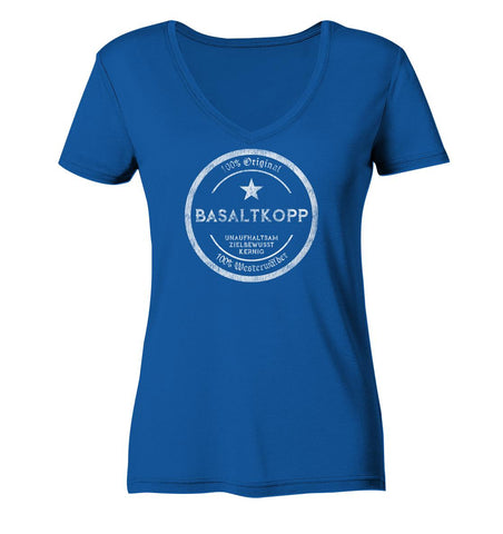 Image of Basaltkopp -  Ladies Organic V-Neck Shirt