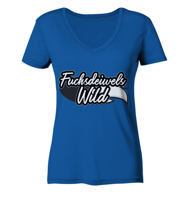 Fuchsdeiwelswild -  Ladies Organic V-Neck Shirt