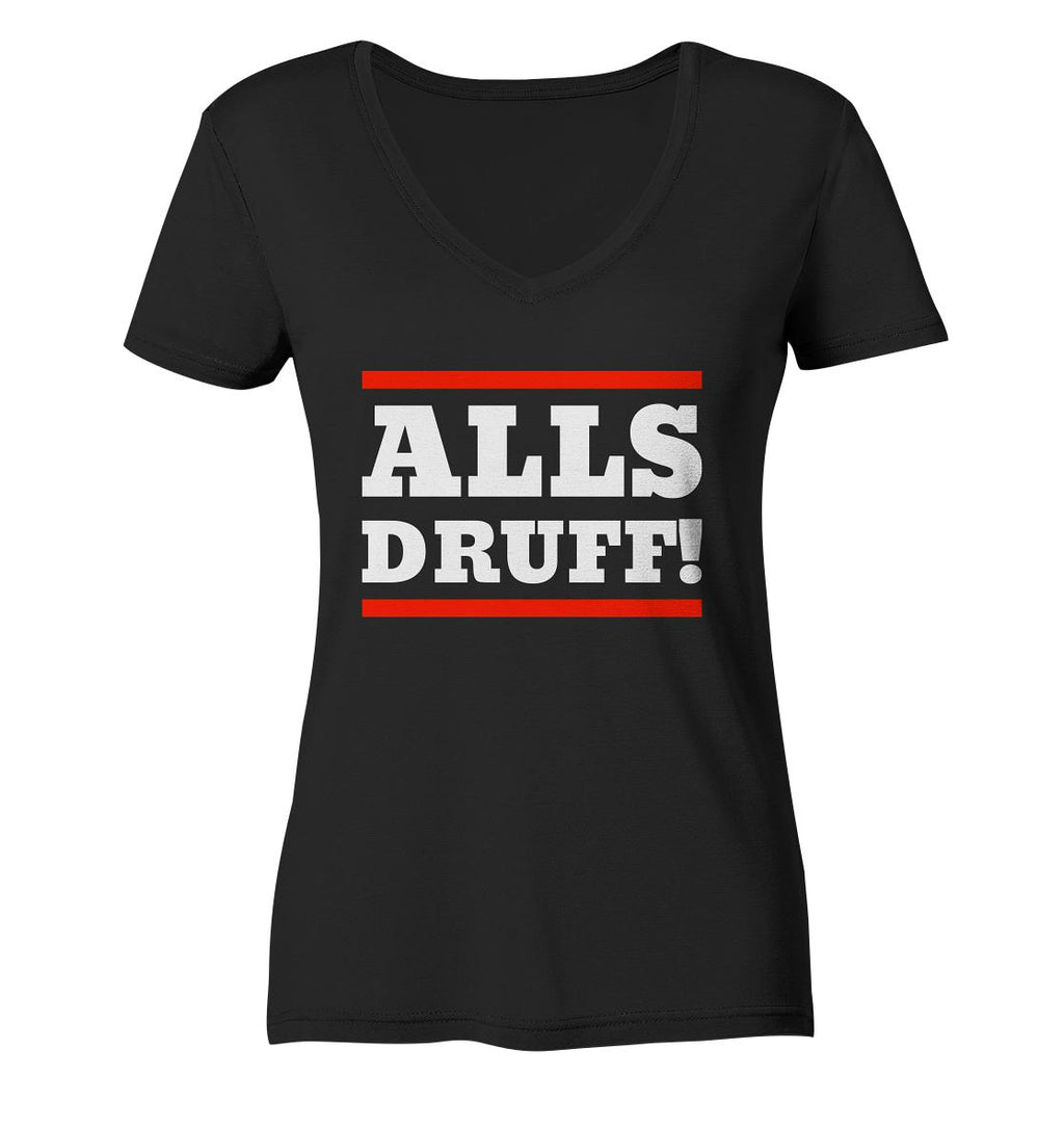 Alls druff! -Ladies Organic V-Neck Shirt