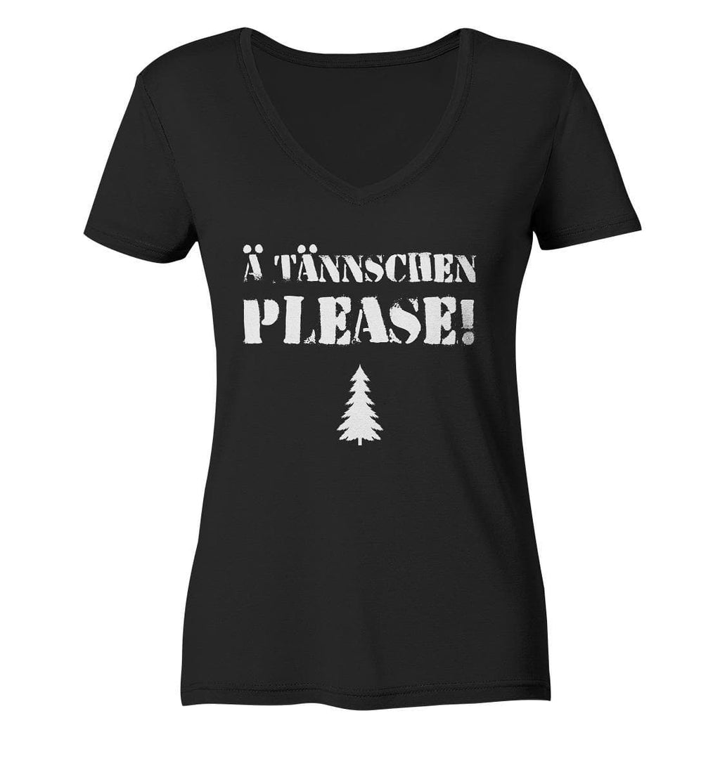 A Tännschen please-Ladies Organic V-Neck Shirt
