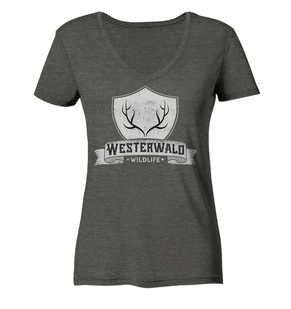 Westerwald Wildlife -  Ladies Organic V-Neck Shirt