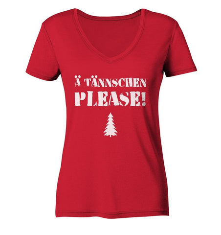 Image of A Tännschen please-Ladies Organic V-Neck Shirt